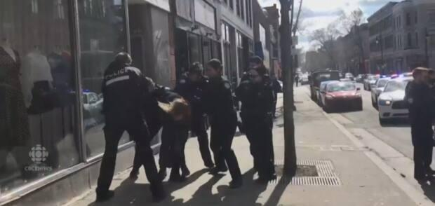 An eyewitness cellphone video captured the arrest of Brian Mann in April 2018 after police accused him and his girfriend, Tayana Jacques, of