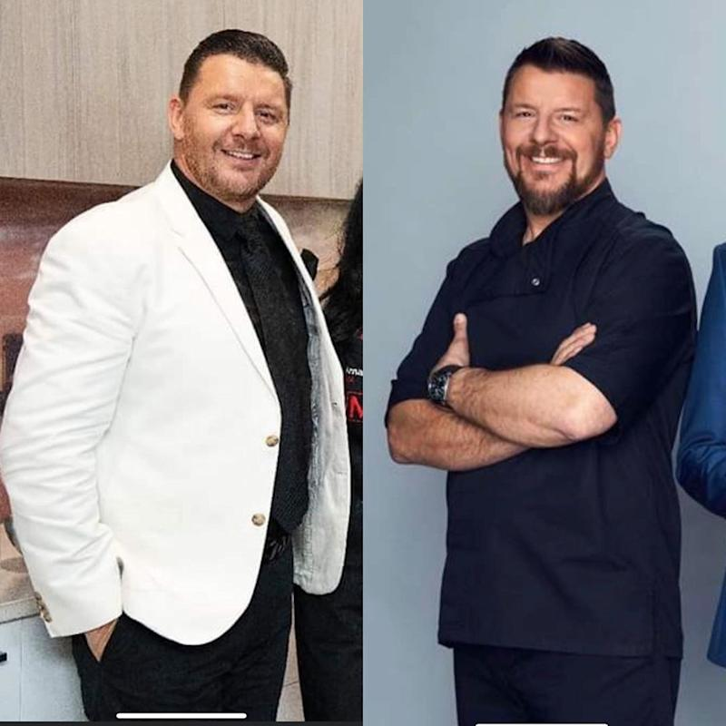 Manu Feildel before and after his 12kg weight loss
