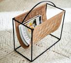 <p>This <span>Suede Magazine Holder</span> ($129) is not only convenient, but totally Instagram-worthy.</p>