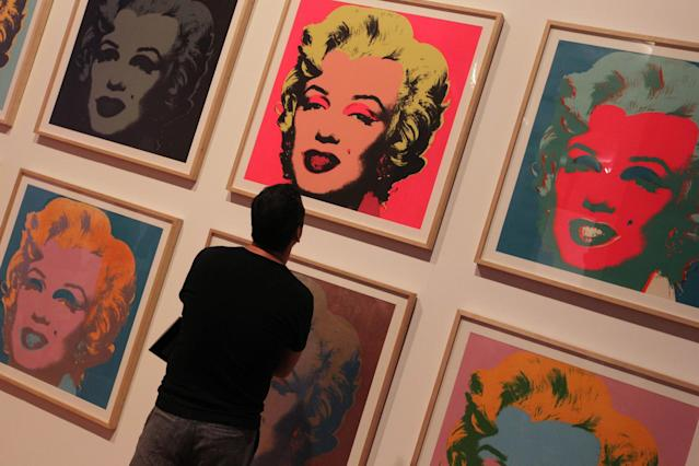 "Frozen goods: Andy Warhol's ""Marilyn Monroe (Photo Nelson Almeida/AFP/Getty Images): AFP/Getty Images"
