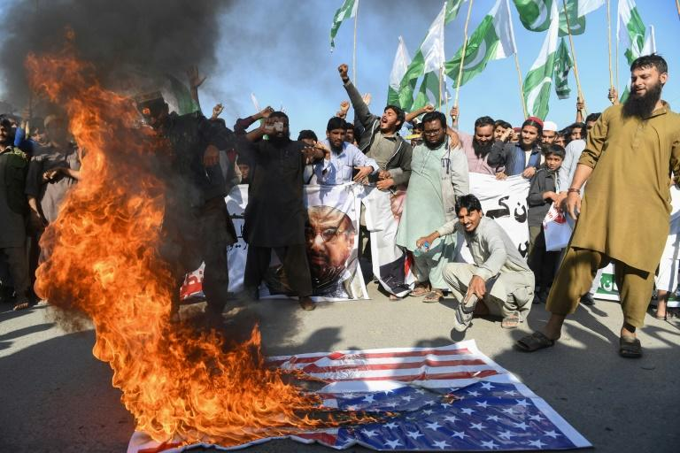 The US announced a freeze on aid to Islamabad at the beginning of the year, sparking protests in Pakistan