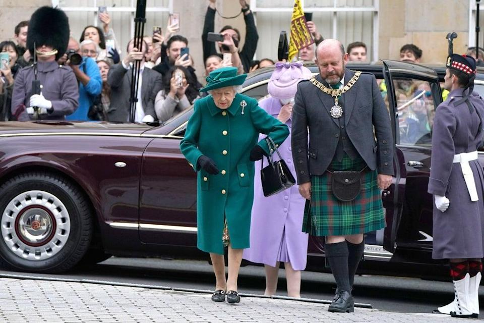 The Queen arrives at the Scottish Parliament in Edinburgh (Andrew Milligan/PA) (PA Wire)