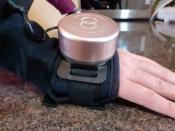 Glove with built-in spinning gyroscope for Parkinson's disease shaking near Towcester
