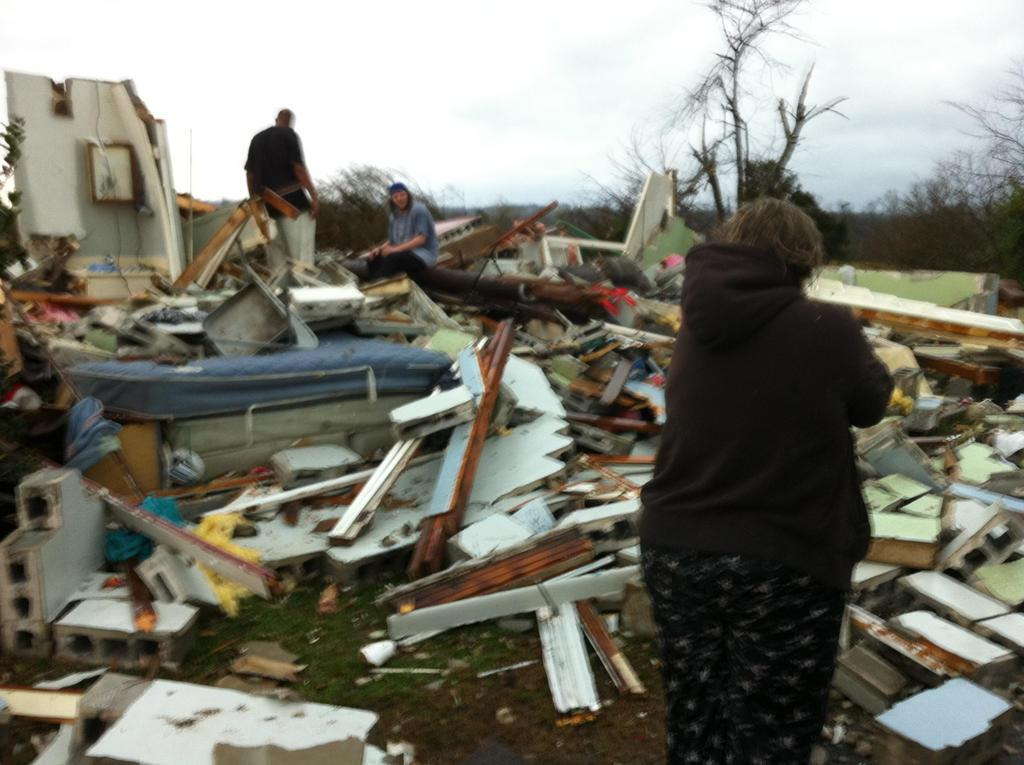 Storm damage in Adairsville, Ga.