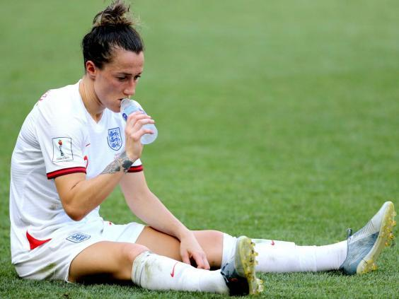 England's Lucy Bronze appears dejected (PA)
