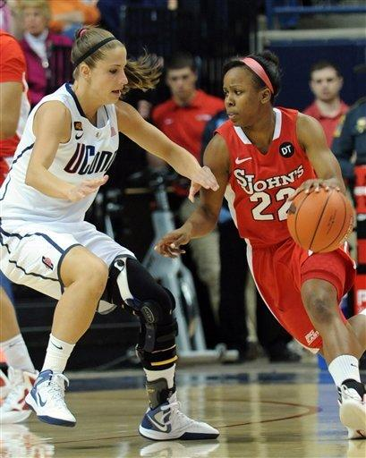 St. John's women end UConn's home win streak at 99
