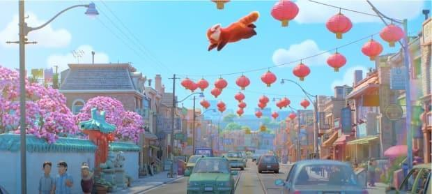 A still from Pixar's teaser trailer about its latest movie, 'Turning Red.' The main character, Mei, turns into a red panda whenever she is excited. (Pixar/YouTube - image credit)