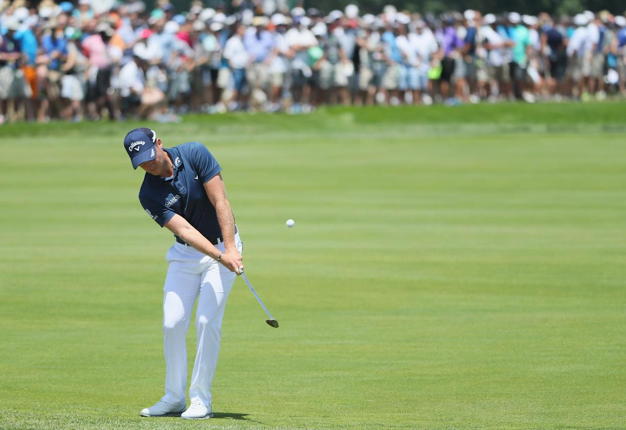 OAKMONT, PA - JUNE 18: Danny Willett of England plays his shot during the continuation of the second round of the U.S. Open at Oakmont Country Club on June 18, 2016 in Oakmont, Pennsylvania. Andrew Redington/Getty Images/AFPOAKMONT, PA - JUNE 18: Danny Willett of England plays his shot during the continuation of the second round of the U.S. Open at Oakmont Country Club on June 18, 2016 in Oakmont, Pennsylvania. Andrew Redington/Getty Images/AFP (AFP Photo/Andrew Redington)