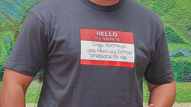 'Princess Bride' Shirt Riles Qantas Flight