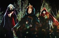 """<p><strong>Rating: </strong>PG</p> <p><strong>Age of kids that can handle it: </strong>7 and up</p> <p><strong>Why it's scary:</strong> Although the Sanderson sisters are mostly hilarious and the spunky main characters handle themselves around the witches, there are still a number of spooky scenes in this one that younger kiddos may not like. A zombie with his mouth sewn shut crawls out of his own grave and follows the kids, the sisters suck out the soul of a little girl, and Thackery Binx, the lovable black cat, gets run over by a bus. Regardless, this <a href=""""https://www.popsugar.com/family/90s-Movies-Show-Your-Kids-40166733"""" class=""""link rapid-noclick-resp"""" rel=""""nofollow noopener"""" target=""""_blank"""" data-ylk=""""slk:'90s classic"""">'90s classic</a> is a must see.</p> <p>Related: <a href=""""https://www.popsugar.com/pets/Labrador-Husky-Dogs-Hocus-Pocus-Halloween-Costume-46557744?utm_medium=partner_feed&utm_source=yahoo_publisher&utm_campaign=related%20link"""" rel=""""nofollow noopener"""" target=""""_blank"""" data-ylk=""""slk:These 3 Dogs Dressed as the Hocus Pocus Witches Win Halloween For the Rest of Time"""" class=""""link rapid-noclick-resp"""">These 3 Dogs Dressed as the Hocus Pocus Witches Win Halloween For the Rest of Time</a></p> <p><span>Watch <b>Hocus Pocus</b> on Disney+ now!</span></p>"""