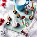 """<p>These make great gifts for a chocolate lover; simply stir 1 or 2 into a mug of warm milk. We've given some flavour ideas below, but you can let your creativity run wild.</p><p><strong>Recipe: <a href=""""https://www.goodhousekeeping.com/uk/christmas/christmas-recipes/a34771086/hot-chocolate-stirrers/"""" rel=""""nofollow noopener"""" target=""""_blank"""" data-ylk=""""slk:Hot Chocolate Stirrers"""" class=""""link rapid-noclick-resp"""">Hot Chocolate Stirrers</a></strong></p>"""