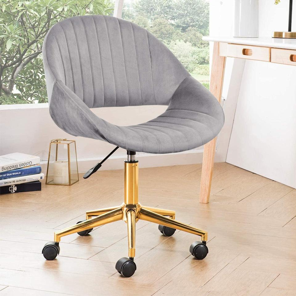 <p>Make sure you can sit somewhere comfortable. This <span>Ovios Cute Desk Chair</span> ($130) is both cute and useful.</p>