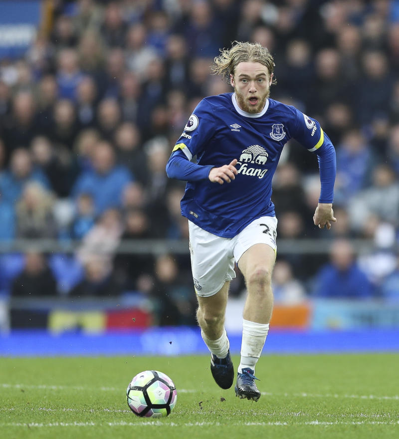 Everton's Tom Davies has been in great form this season