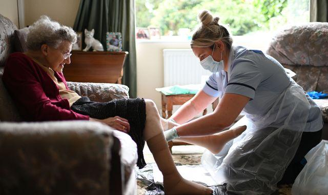 Coronavirus: 'Stark' warning of care workers shortage as UK enters second wave