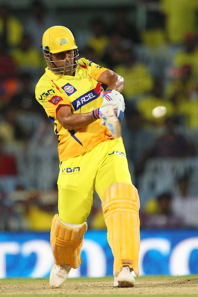 MS Dhoni during match 34 of the Pepsi Indian Premier League between The Chennai Superkings and the Sunrisers Hyderabad held at the MA Chidambaram Stadiumin Chennai on the 25th April 2013. (BCCI)