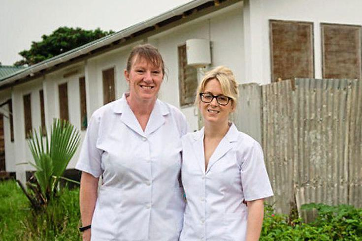 Midwives on a mission: Delia Jepson and Cheryl Stanley on their trip to Kiomboi: WaterAid/Eliza Powell