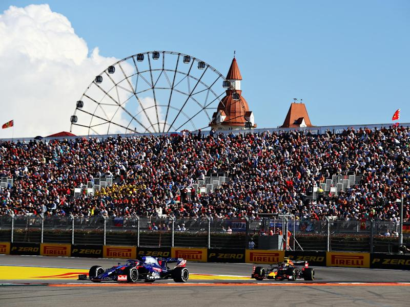The Russian Grand Prix could be under threat from Wada's ban: Getty