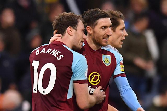 Ashley Barnes helped Burnley to gain a third successive win in downing Swansea City