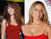 Mariah Carey's career has lasted twenty years – can you believe it? She may have gained a little weight since the first picture was taken (and maybe a few visits to the plastic surgeon) but she looks great for her age (which is 42 by the way!).
