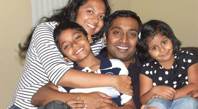 All four members of the Thottapilly family perished in the raging torrent of Eel River in northern California. Source: Facebook/Sandeep Thottapilly