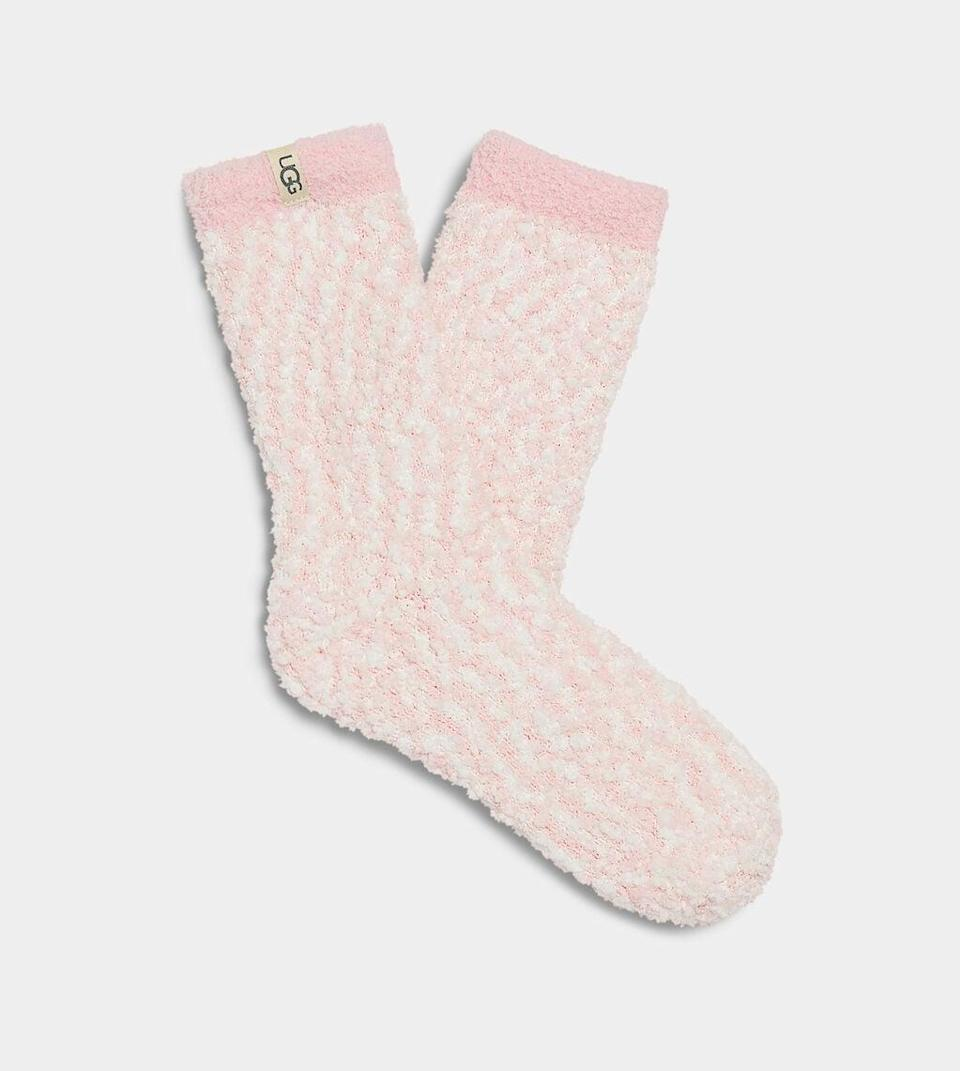 <p>A pair of these <span>Ugg Cozy Chenille Socks</span> ($20) is a perfect holiday gift.</p>