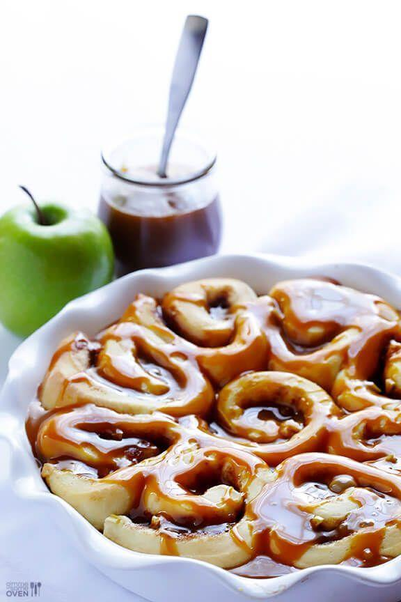 """<p>These gooey rolls deserve a spot on your autumn baking bucket list. After all, it's not just apple season—it's also <em>caramel </em>apple season.</p><p><strong>Get the recipe at <a href=""""https://www.gimmesomeoven.com/caramel-apple-cinnamon-rolls-recipe/"""" rel=""""nofollow noopener"""" target=""""_blank"""" data-ylk=""""slk:Gimme Some Oven"""" class=""""link rapid-noclick-resp"""">Gimme Some Oven</a>.</strong></p><p><a class=""""link rapid-noclick-resp"""" href=""""https://go.redirectingat.com?id=74968X1596630&url=https%3A%2F%2Fwww.walmart.com%2Fsearch%2F%3Fquery%3Dstand%2Bmixer&sref=https%3A%2F%2Fwww.thepioneerwoman.com%2Ffood-cooking%2Fmeals-menus%2Fg37145681%2Feasy-apple-recipes%2F"""" rel=""""nofollow noopener"""" target=""""_blank"""" data-ylk=""""slk:SHOP STAND MIXERS"""">SHOP STAND MIXERS</a></p>"""