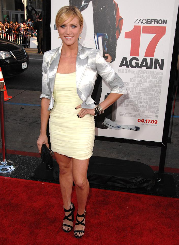 """<a href=""""http://movies.yahoo.com/movie/contributor/1807455293"""">Brittany Snow</a> at the Los Angeles premiere of <a href=""""http://movies.yahoo.com/movie/1810038675/info"""">17 Again</a> - 04/14/2009"""