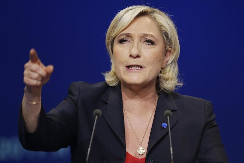 Marine Le Pen: French National Front political party leader: AP