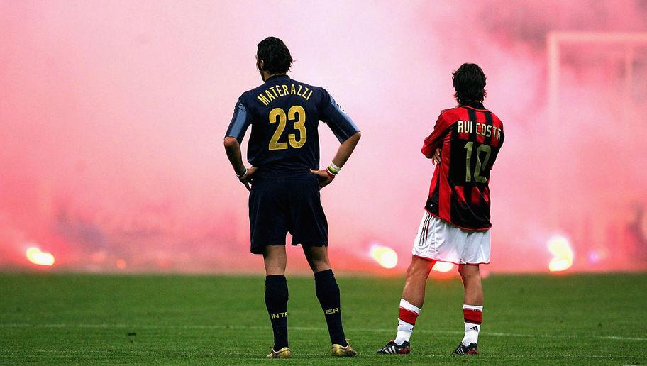 <p>Another famous Milan 'away' win, although this time crowd trouble took the centre of attention.</p> <br /><p>The Rossoneri led 1-0 from the first leg in what was the last time the rivals met in the Champions League. Shevchenko again proved the scourge of Inter as he doubled their aggregate lead in the first half, before a disallowed Esteban Cambiasso goal instigated anger in the crowd. Milan keeper Dida was struck by a flare, and the game was abandoned, the visitors awarded a 3-0 win.</p> <br /><p>Milan would go on to reach the final and lost to Liverpool in Istanbul having led 3-0 at half-time.</p>