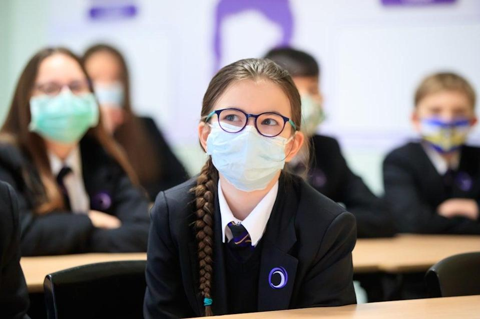 One in 15 children in school Years 7 to 11 are estimated to have had Covid-19 in the week to October 2 (PA) (PA Wire)