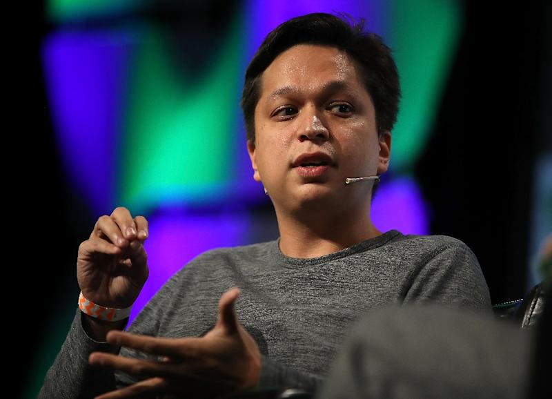 Pinterest CEO Ben Silbermann is seen during the TechCrunch Disrupt SF 2017 conference