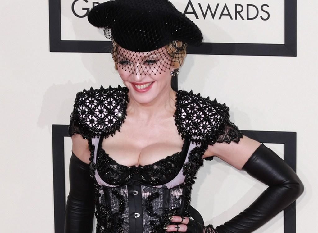 "<strong>Madonna </strong>has left audiences' jaws on the floor for decades, but she proved she still had it at the 2015 Grammys, when she stepped onto the red carpet in lingerie that left little to the imagination.  She even <a rel=""nofollow"" href=""https://www.youtube.com/watch?v=BmFNy0_nxd0"">flashed</a> her derrière for photographers to capture. At 57-year-old, she proved age ain't nothin' but a number."