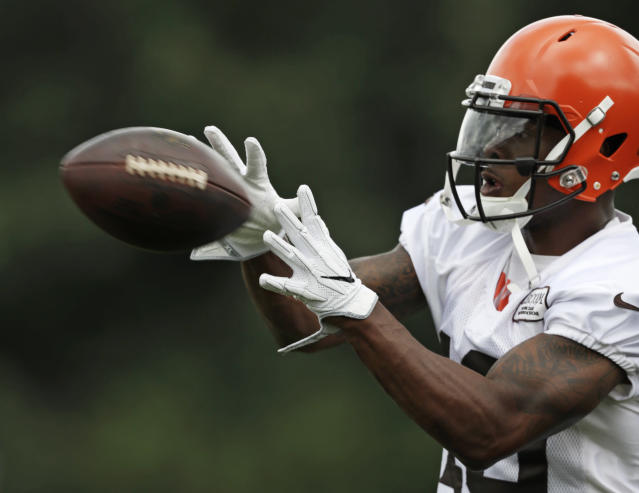 Another chance: Corey Coleman, who has been with the Cleveland Browns and Buffalo Bills in recent weeks, signed with the New England Patriots on Tuesday. (AP)
