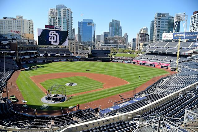 "There was a nasty surprise for the <a class=""link rapid-noclick-resp"" href=""/mlb/teams/sdg"" data-ylk=""slk:Padres"">Padres</a> at Petco Park on Sunday. (Getty Images)"