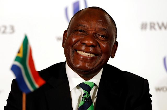 FILE PHOTO: Rugby Union - Rugby World Cup 2023 host country candidates press conference - Royal Garden Hotel, London, Britain - September 25, 2017 Cyril Ramaphosa, Deputy President of South Africa during the press conference Action Images via Reuters/Paul Childs/File Photo