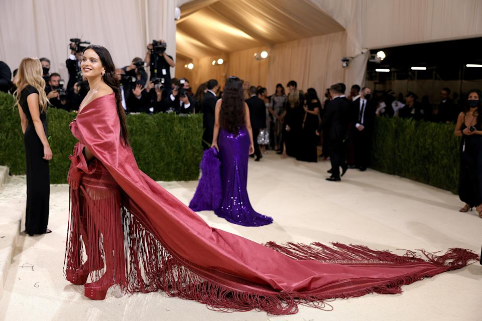 """<h1 class=""""title"""">Rosalia, The 2021 Met Gala Celebrating In America: A Lexicon Of Fashion - Arrivals</h1><cite class=""""credit"""">Getty</cite>"""