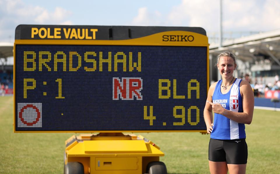 Vaulting veteran Bradshaw hauled herself over the bar at 4.90m in Manchester last weekend to break the British record