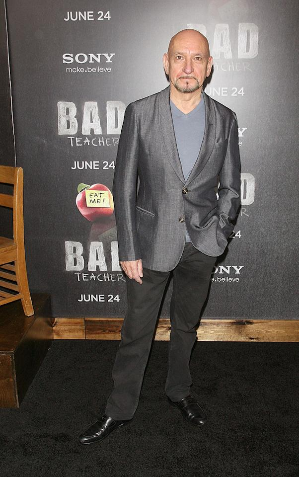 """<a href=""""http://movies.yahoo.com/movie/contributor/1800026534"""">Ben Kingsley</a> at the New York City premiere of <a href=""""http://movies.yahoo.com/movie/1810150690/info"""">Bad Teacher</a> on June 21, 2011."""