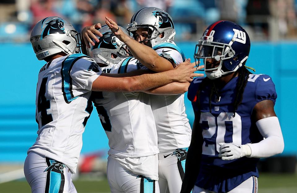 Graham Gano picked a great time to dig deep for a career-long field goal. (Getty)