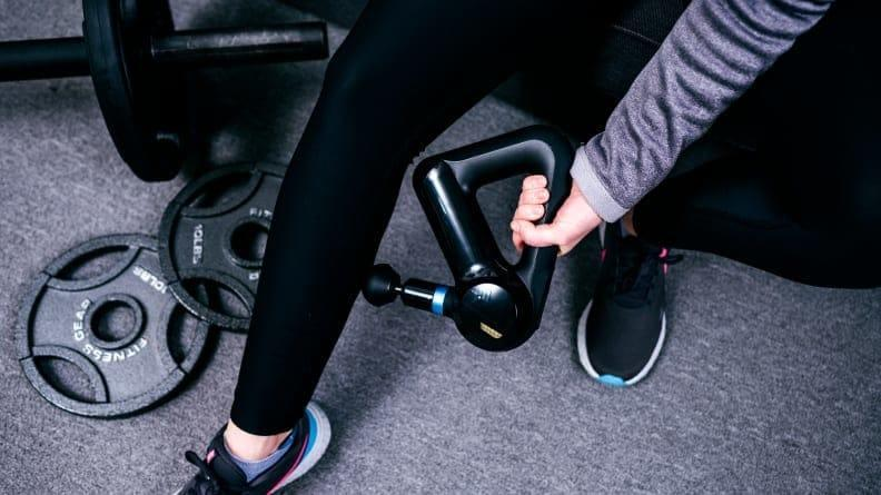 If you're both feeling stressed, a few minutes under the Theragun can go a long way in restoring a sense of calm.