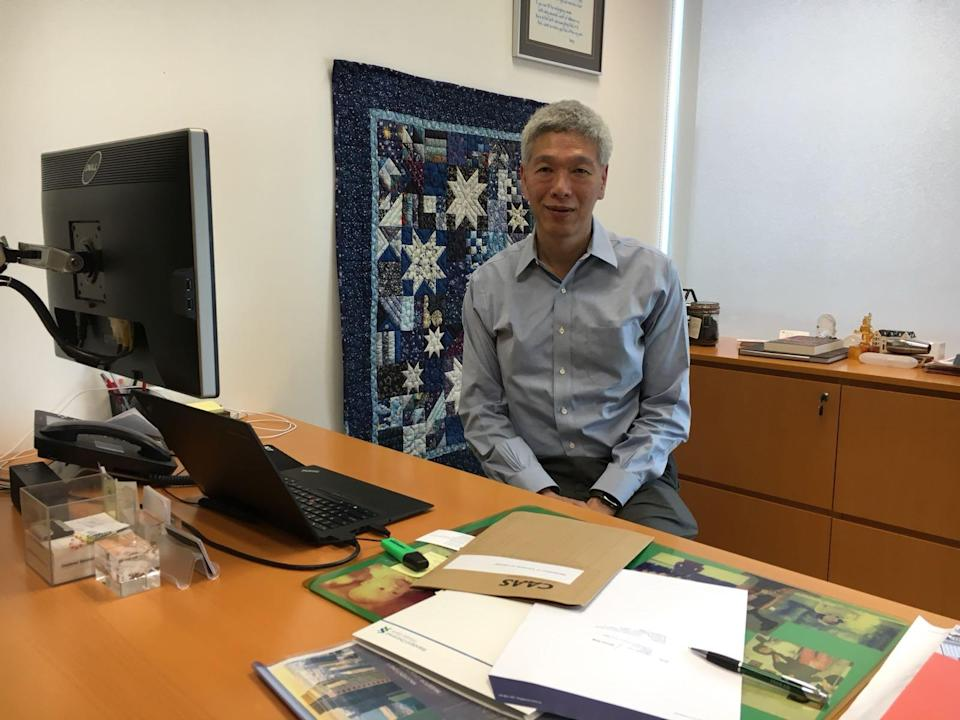 Lee Hsien Yang, the younger son of the late Lee Kuan Yew, at his office in late 2017. PHOTO: Nicholas Yong/Yahoo News Singapore