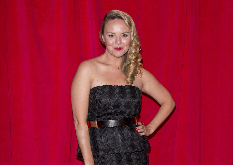 Charlie Brooks attends the British Soap Awards at Hackney Empire on May 24, 2014 in London, England.  (Photo by Mark Cuthbert/UK Press via Getty Images)