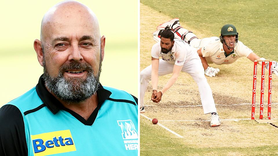 Brisbane Heat coach Darren Lehmann wants the original Gabba pitch to be preserved, should the Queensland capital be successful in its being for the 2032 Olympic Games. Pictures: Getty Images