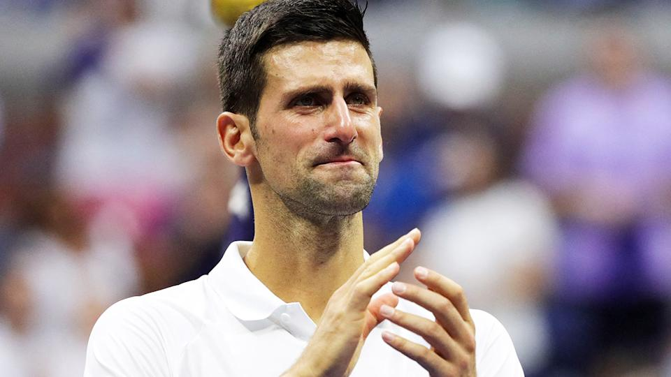 Novak Djokovic, pictured here after his loss in the US Open final.
