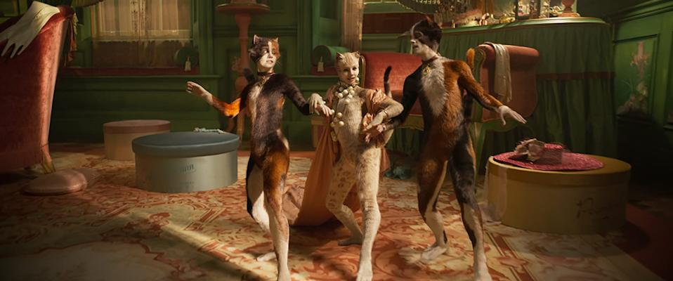 I bet Hugh Jackman regrets missing out on this Cats number (Image by Universal)
