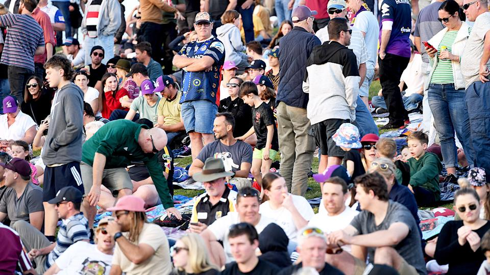 NRL fans, pictured here during the NRL match between the Melbourne Storm and Newcastle Knights.