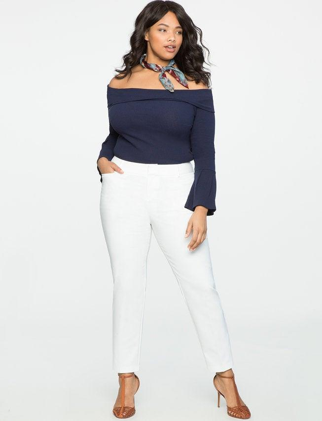 """<h2>Eloquii Kady Fit Double-Weave Pant</h2><br>The Kady pant is one of Eloquii's most popular styles. It's available in tall, short, and regular inseams. If you need a little more room in the stomach or hips than regular fitting styles call for, the Kady pant comes in the Genna and Viola fit to accommodate all body types. <br><br><em>Shop <strong><a href=""""https://www.eloquii.com/kady-fit-double-weave-pant/1151135.html"""" rel=""""nofollow noopener"""" target=""""_blank"""" data-ylk=""""slk:Eloquii"""" class=""""link rapid-noclick-resp"""">Eloquii </a></strong></em><br><br><strong>Eloquii</strong> Kady Fit Double-Weave Pant, $, available at <a href=""""https://go.skimresources.com/?id=30283X879131&url=https%3A%2F%2Fwww.eloquii.com%2Fkady-fit-double-weave-pant%2F1151135.html"""" rel=""""nofollow noopener"""" target=""""_blank"""" data-ylk=""""slk:Eloquii"""" class=""""link rapid-noclick-resp"""">Eloquii</a>"""