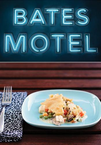 """<div class=""""caption-credit""""> Photo by: Caitlin Morton</div><div class=""""caption-title""""></div><b><i>Bates Motel</i>   Easy Chicken Pot Pie</b> <br> Although Norma Bates (Vera Farmiga in her Emmy-nominated role) may have some less-than-admirable qualities (being a murderer, etc.), you have to admit she's extremely nurturing when it comes to her son. A boy's best friend is his mother, after all. Norma loves whipping up meals for her pride and joy, and this easy and comforting pot pie seems like just the sort of thing she would love. It's warm and delicious, and it's fast enough to work around your busy schedule of work and school (or, in Norma's case, hiding dead bodies). <br> <a rel=""""nofollow"""" href=""""http://www.babble.com/best-recipes/norma-bates-and-the-best-ever-easy-chicken-pot-pie/"""" target=""""_blank""""><i>Make easy chicken pot pie</i></a> <br> <b><i><a rel=""""nofollow"""" href=""""http://www.babble.com/best-recipes/wheat-free-gluten-free-baking-10-delicious-recipes-2/?cmp=ELP bbl  YahooShine  InHouse 091913 12RecipesInspiredbyYourFavoriteEmmyNominees  famE """">Related: 10 tasty treats you'd never guess were gluten-free</a></i></b>"""