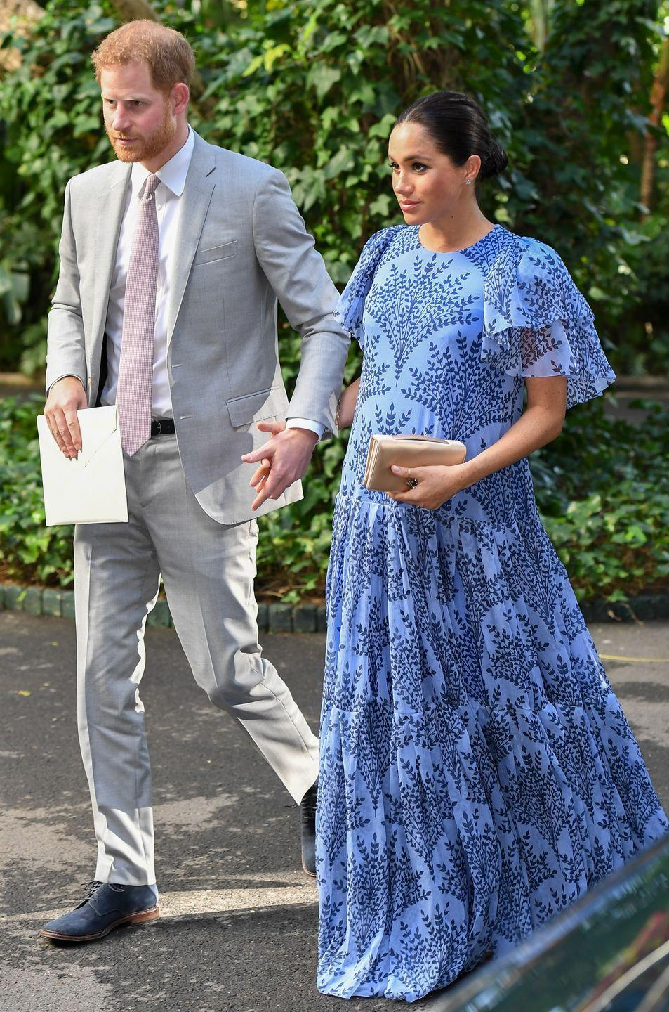 "<p>The royals dressed up for an audience with King Mohammed VI of Morocco on February 25, 2019 while <a href=""https://www.townandcountrymag.com/society/tradition/g26364847/prince-harry-and-meghan-markle-morocco-2019-visit-photos/"" rel=""nofollow noopener"" target=""_blank"" data-ylk=""slk:on their royal visit"" class=""link rapid-noclick-resp"">on their royal visit</a>.</p>"