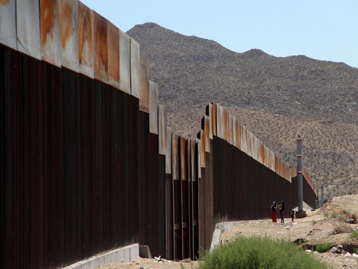 At least five other Guatemalan migrants have suffered broken bones and other serious injuries after falling from the border wall in recent months: AFP/Getty
